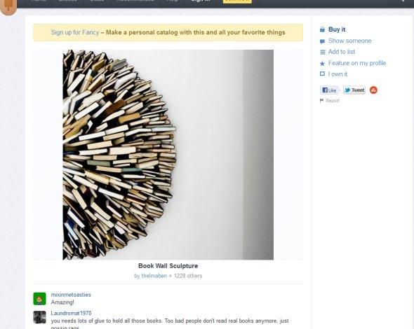wandskulptur aus b chern. Black Bedroom Furniture Sets. Home Design Ideas