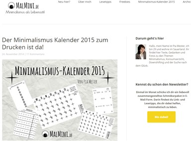 Drucken for Minimalismus liste